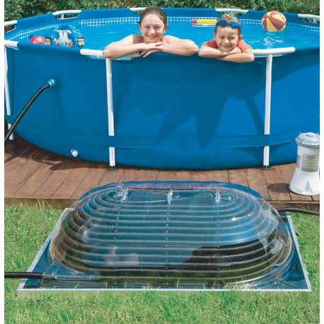 Aquadome - ecological pool heating solar dome