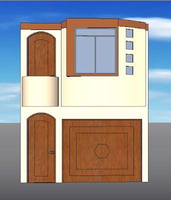 Fachadas y casas casas con fachadas de 4 metros future for Fachadas de casas de 6 metros de frente modernas