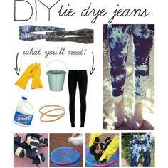 DIY jeans tie dye