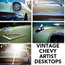 6 Vintage Chevy Artistic Desktop Wallpaper