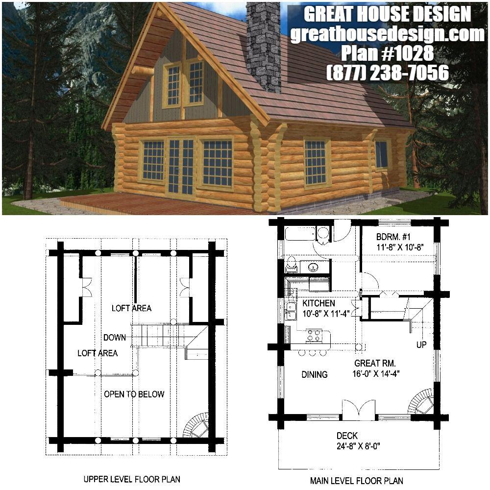 Home Plan 001 1028 Home Plan Great House Design Log Cabin House Plans Small Log Homes House Plans