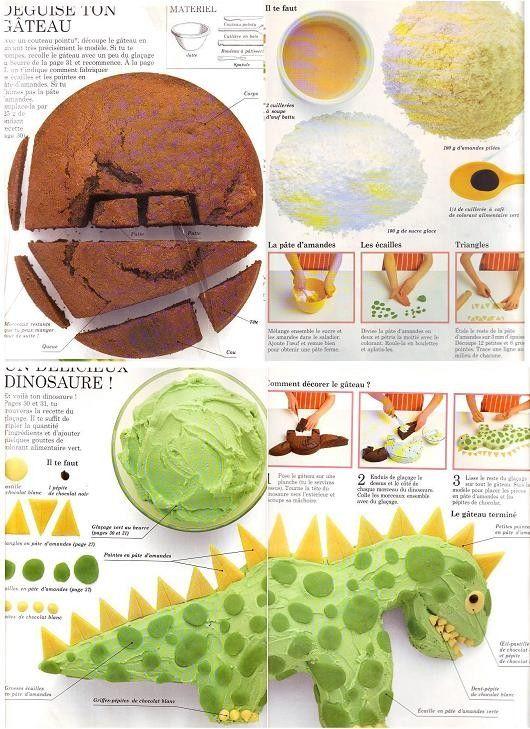 G teau dinosaure ang f e a id es enfants pinterest gateau anniversaire enfant gateau - Dinosaure rigolo ...