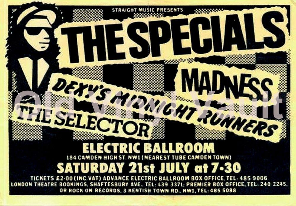 The Specials concert poster Electric Ballroom Camden UK 1979 Repro.. | eBay
