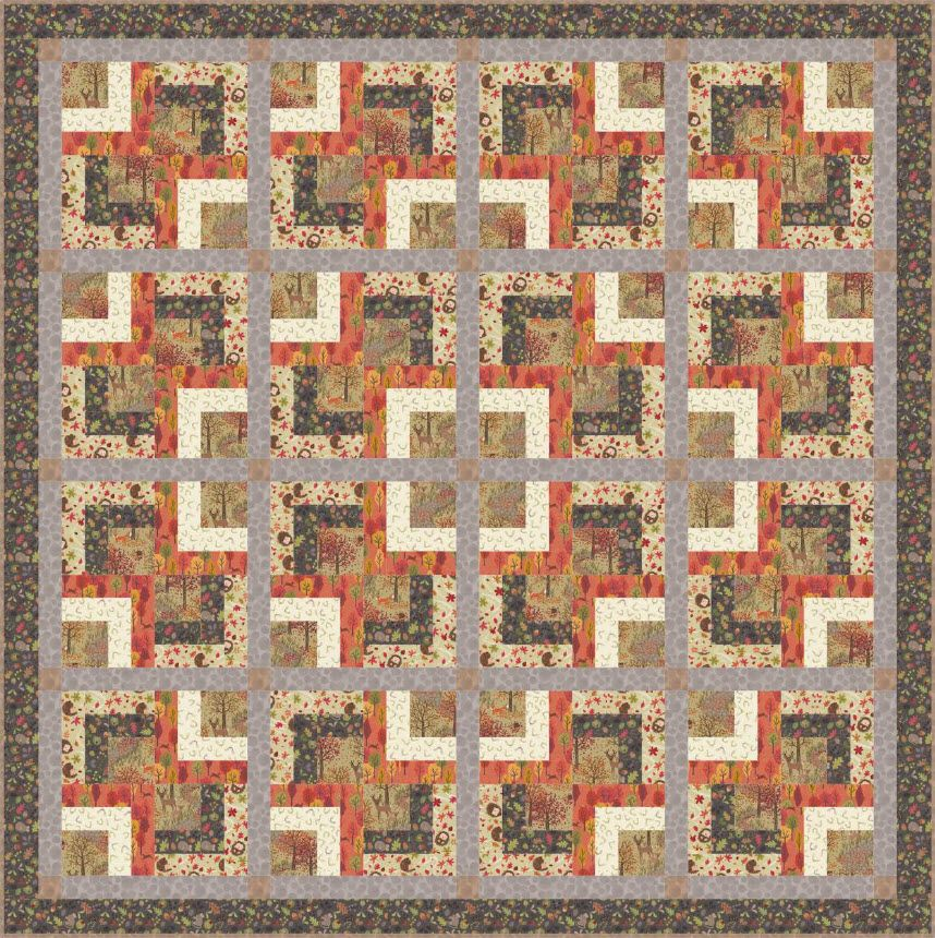Autumn In Bluebell Wood Ii Free Quilt Pattern Quilt Patterns Free Quilt Patterns Free Quilting