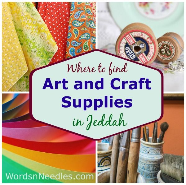 Where To Find Art And Craft Supplies In Jeddah Arts Crafts