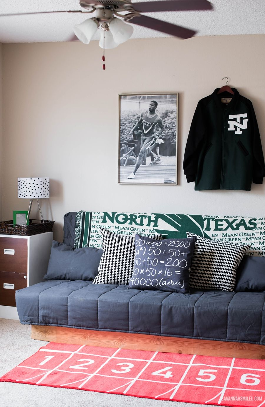 A Mean Green Man Cave Unt Meangreen Track Field Man