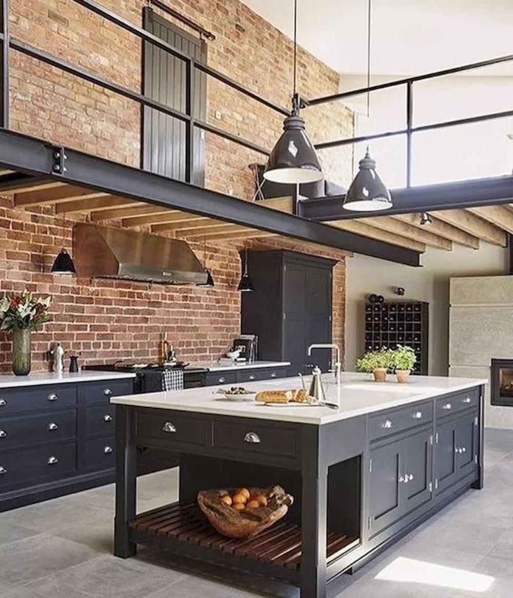 77 Best Farmhouse Kitchen Decor Ideas And Remodel 15 Googodecor Industrial Decor Kitchen Industrial Style Kitchen Industrial Kitchen Design