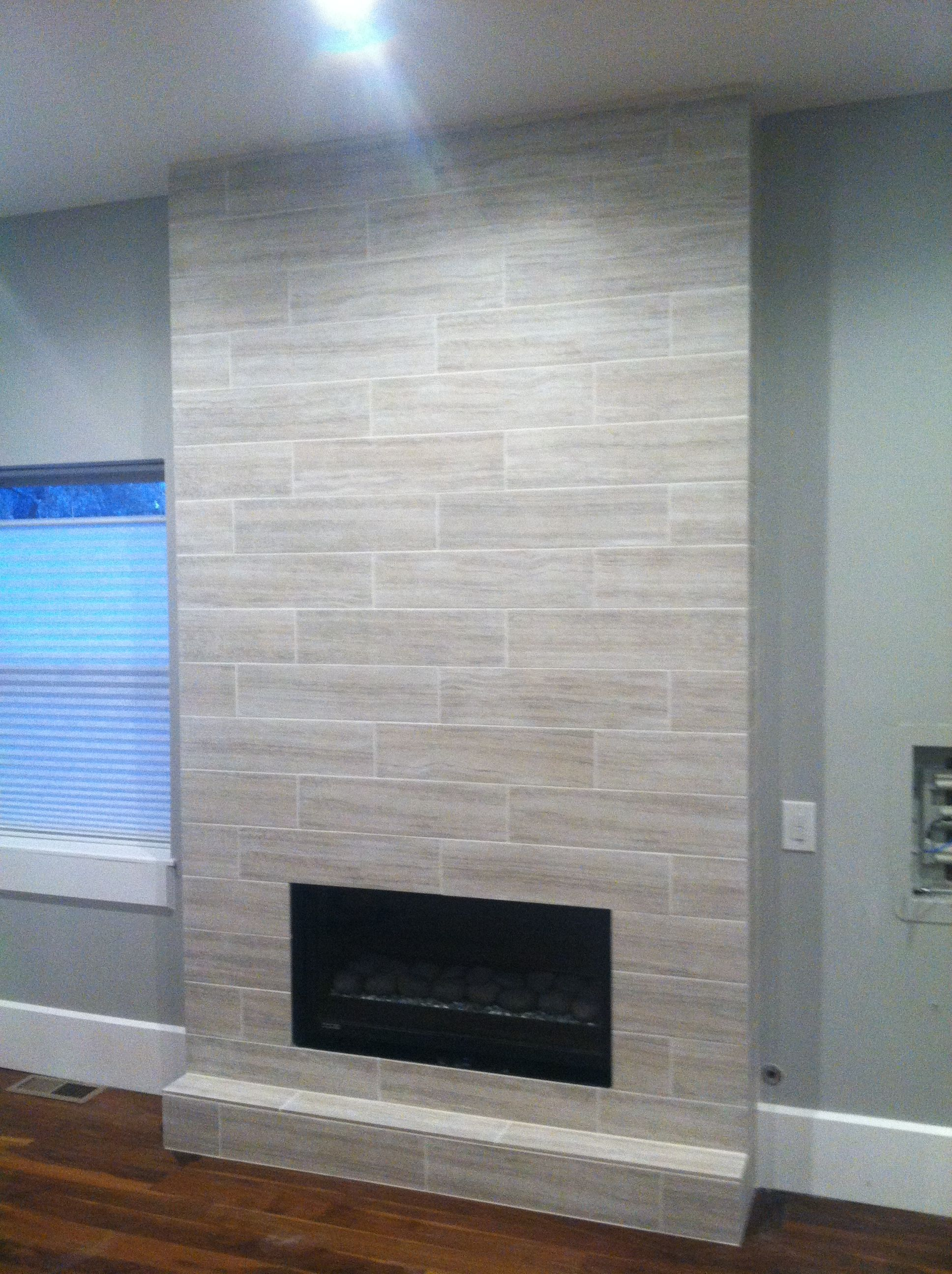 Wood Looking Porcelain Tile Used On Fireplace Google