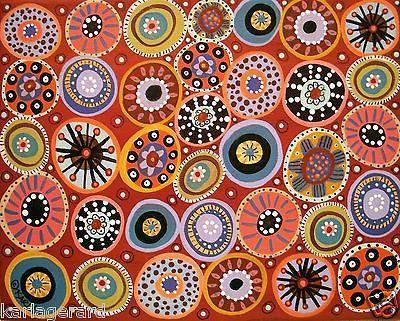 Hard Candy 10x8 Circles Canvas Painting Folk Art Abstract