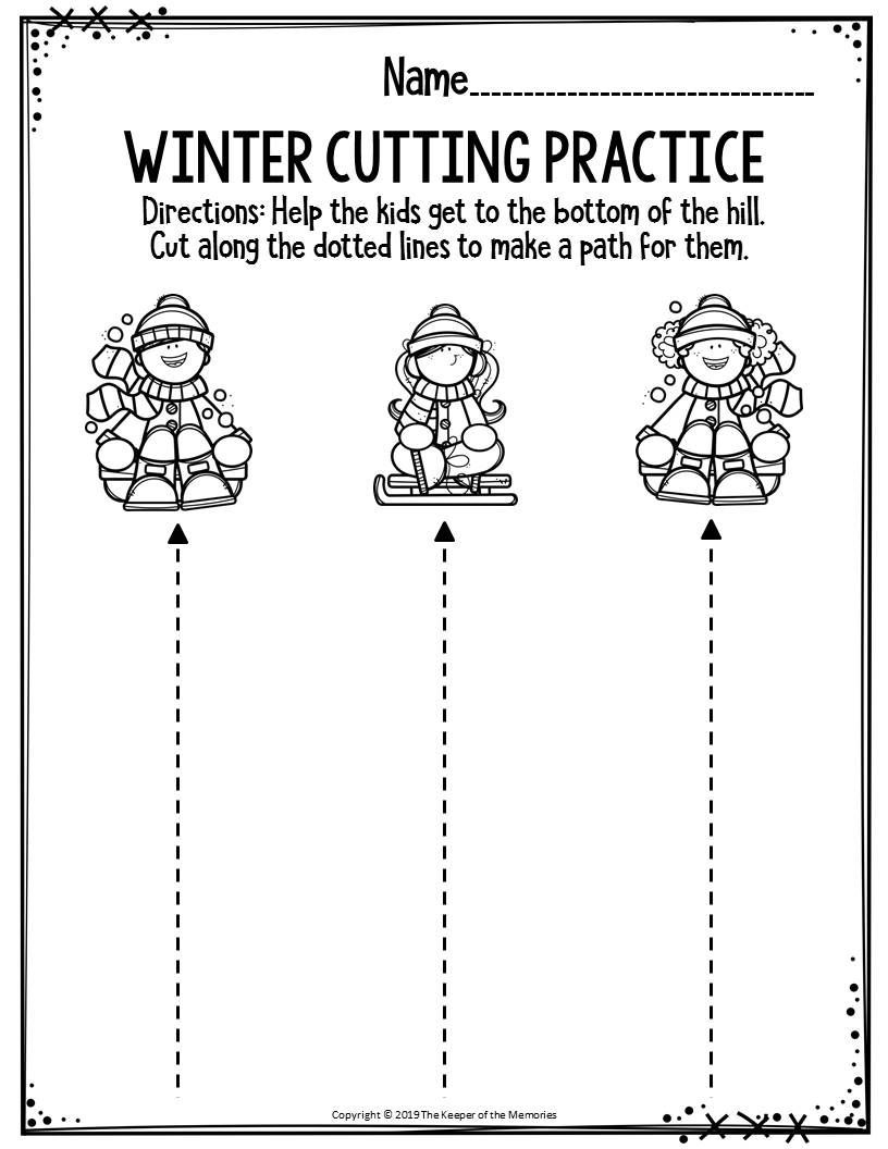 Winter Printable Preschool Worksheets Preschool Printable Winter Worksheets Blogging Kleuterklas Winter [ 1056 x 816 Pixel ]