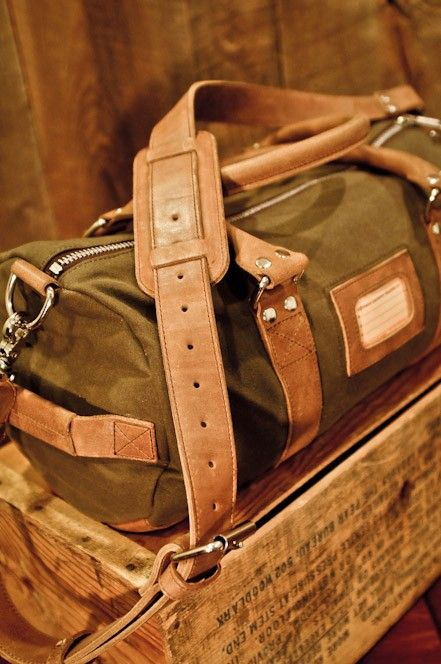 a06c35b2ee Elkton Waxed Canvas and Leather Duffle Duffel Bag by Buffalo Jackson  Trading Co