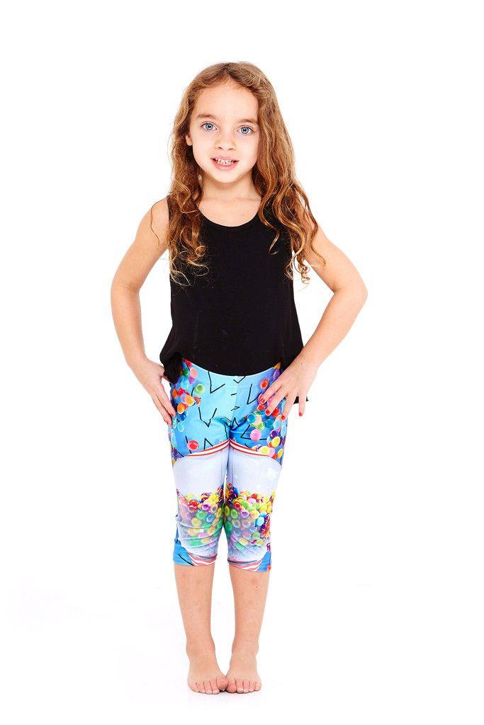 b38a8ba9861ae Terez Kids Gumball Explosion Capri Leggings | kids' style | Capri ...