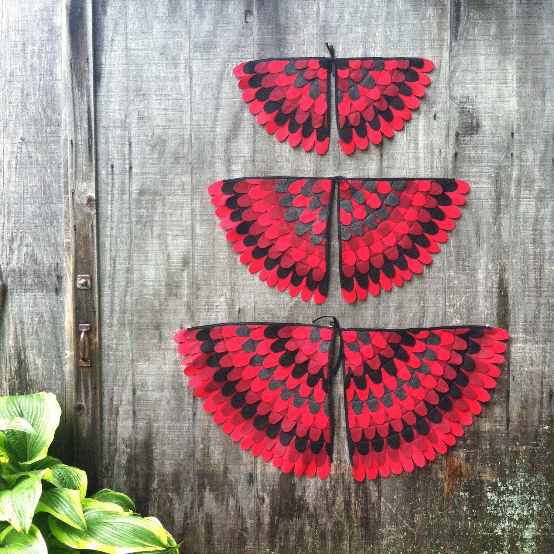 Magical Creature Wings, Costume Wings red bird / cardinal