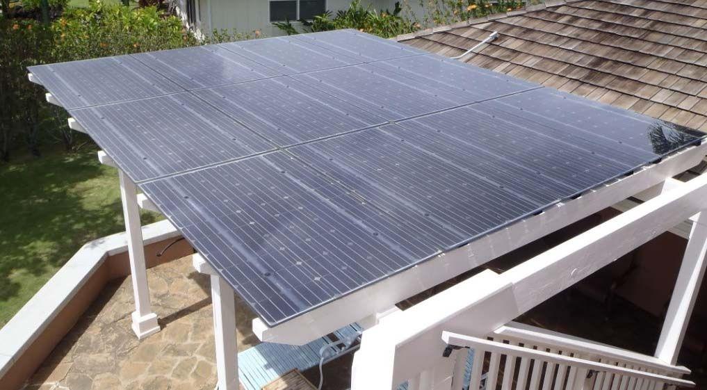 Image Of Solar Pergola Kits Solar Panels On Pergola
