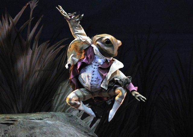Ryoichi Hirano as Mr Jeremy Fisher, Tales of Beatrix Potter. Royal Ballet.