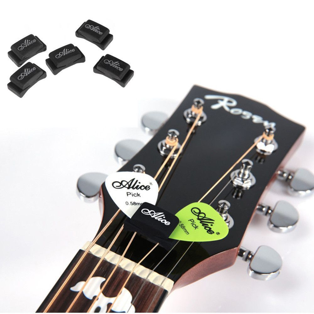 5 Headstock Pick Holders Guitar pick holders, Bass