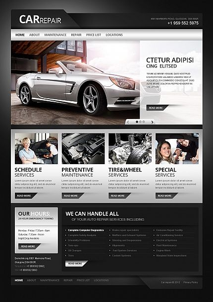 Website Template #webdesign http://www.templatemonster.com/moto-cms-html-templates/41082.html#