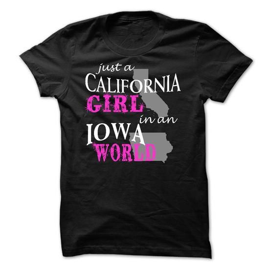 California girl in an IOWA - #pink hoodie #christmas sweater. BEST BUY => https://www.sunfrog.com/States/California-girl-in-an-IOWA.html?68278