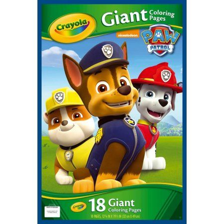 Crayola Giant Coloring Pages Disney S Paw Patrol Products Paw