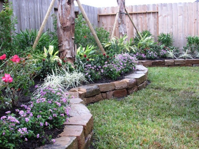 Landscaping75 | Landscaping with rocks, Backyard ... on Rock And Stone Outdoor Living id=44006