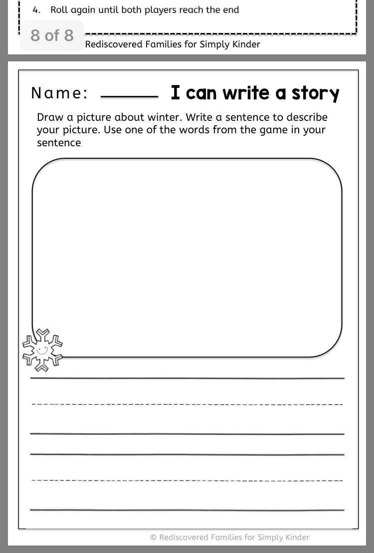 Pin By Hillary H On Winters In Kindergarten Winter Sight Words
