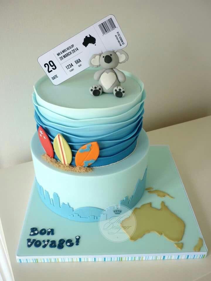 Australia Cake Australia Cake Bon Voyage Cake Travel Cake