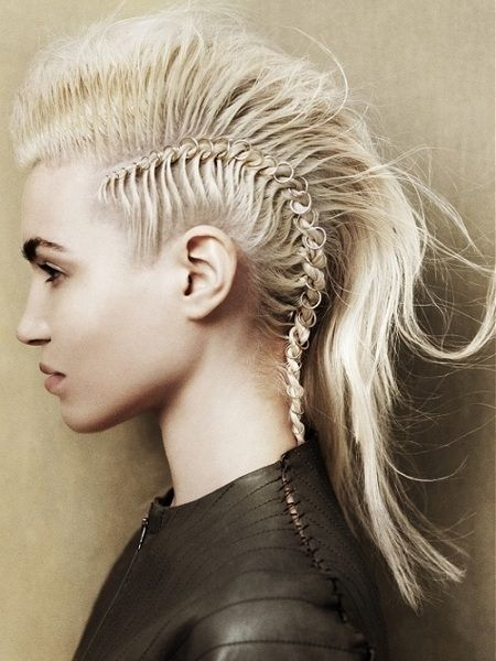 Peachy Mohawks Hairstyles And Mohawk Hair On Pinterest Hairstyle Inspiration Daily Dogsangcom