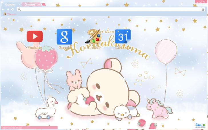 Sweet Dream of Korilakkuma Chrome Theme ThemeBeta