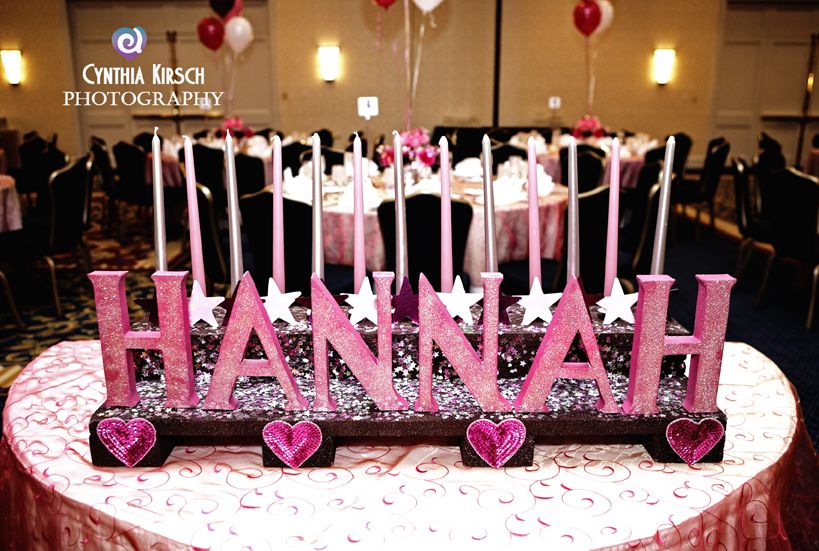 Bat mitzvah candle lighting ceremony bar and