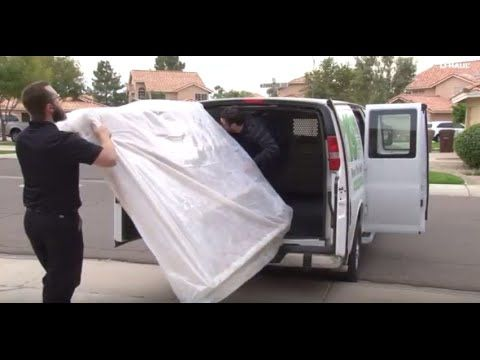 Learn how to load your mattress into a U Haul Cargo Van Cargo