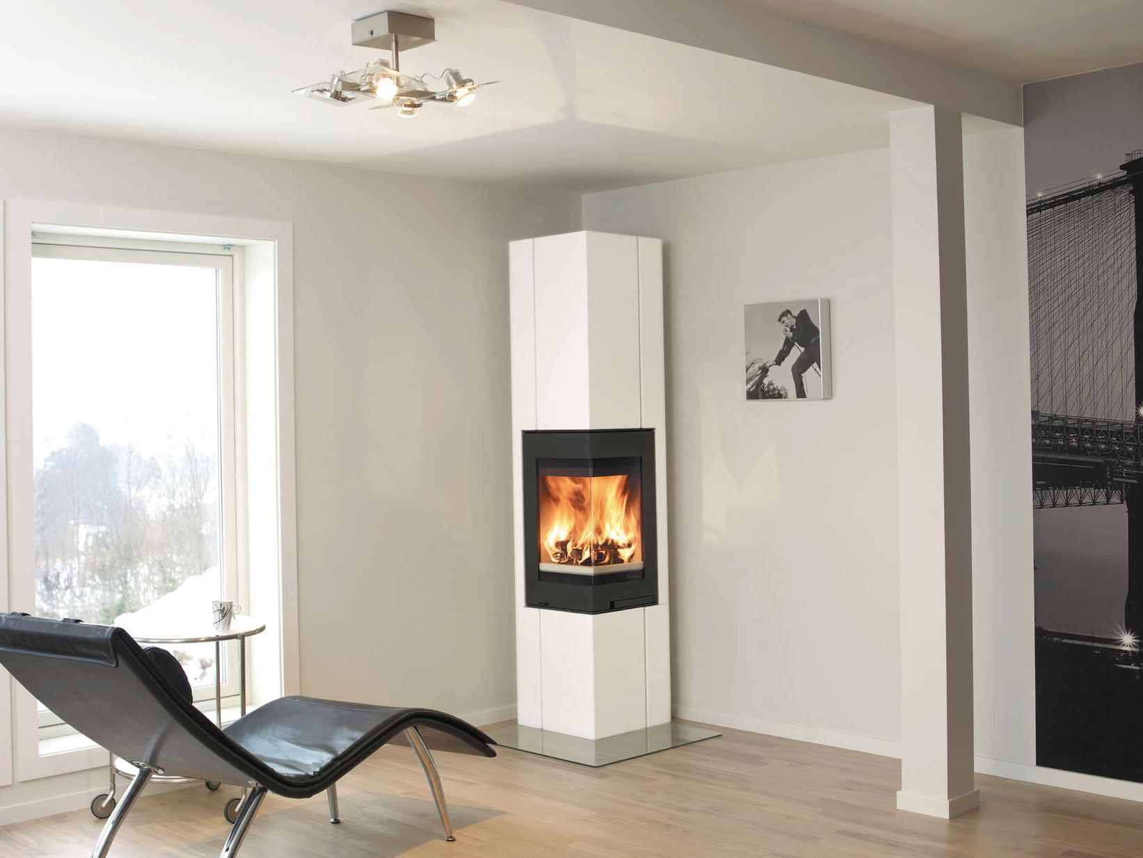 fireplace modern contemporary perfect electric