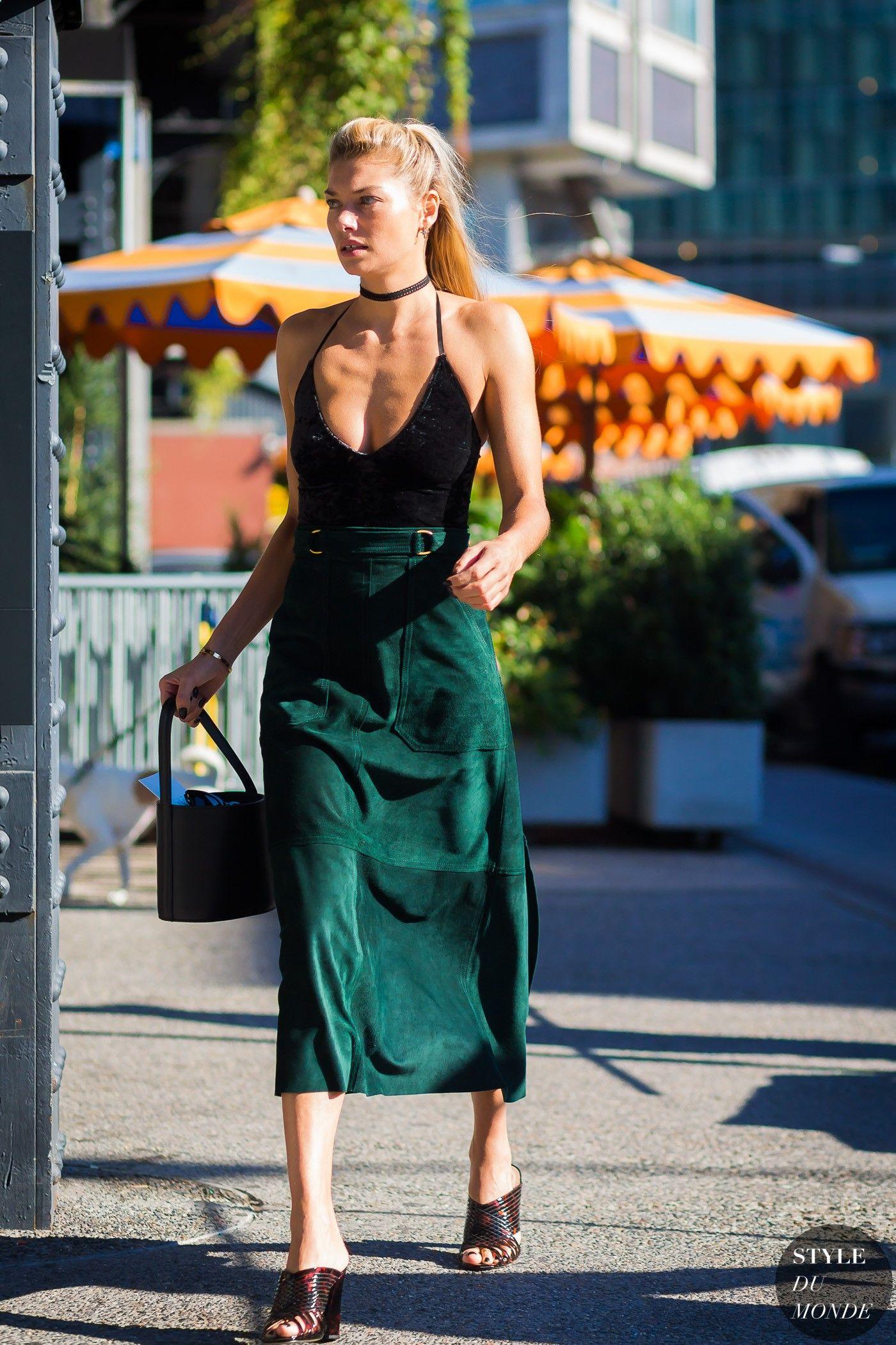 New York SS 2017 Street Style: Jessica Hart