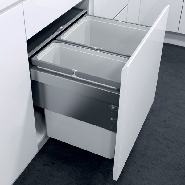 Oeko Liner Pullout Waste Bin For 600 Mm Cabinet Width  Häfele Best Kitchen Waste Bins Decorating Design