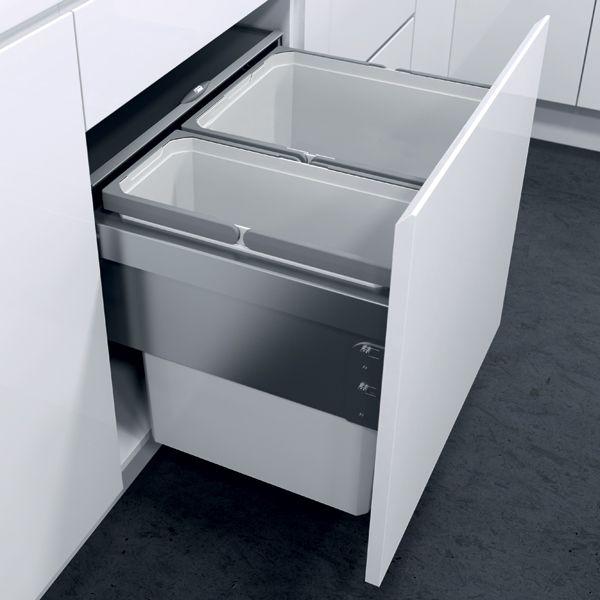 Oeko Liner pull-out waste bin, for 600 mm cabinet width   Häfele ...