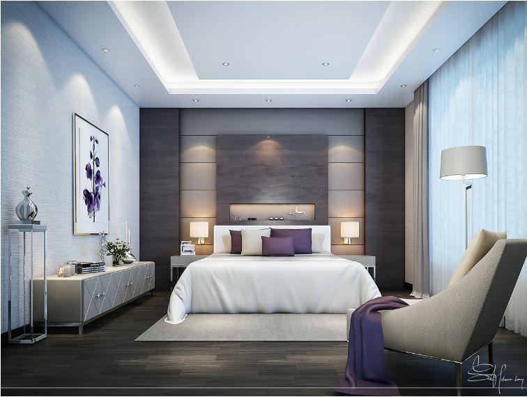 RCP master bedroom | Bedroom false ceiling design, Modern ...