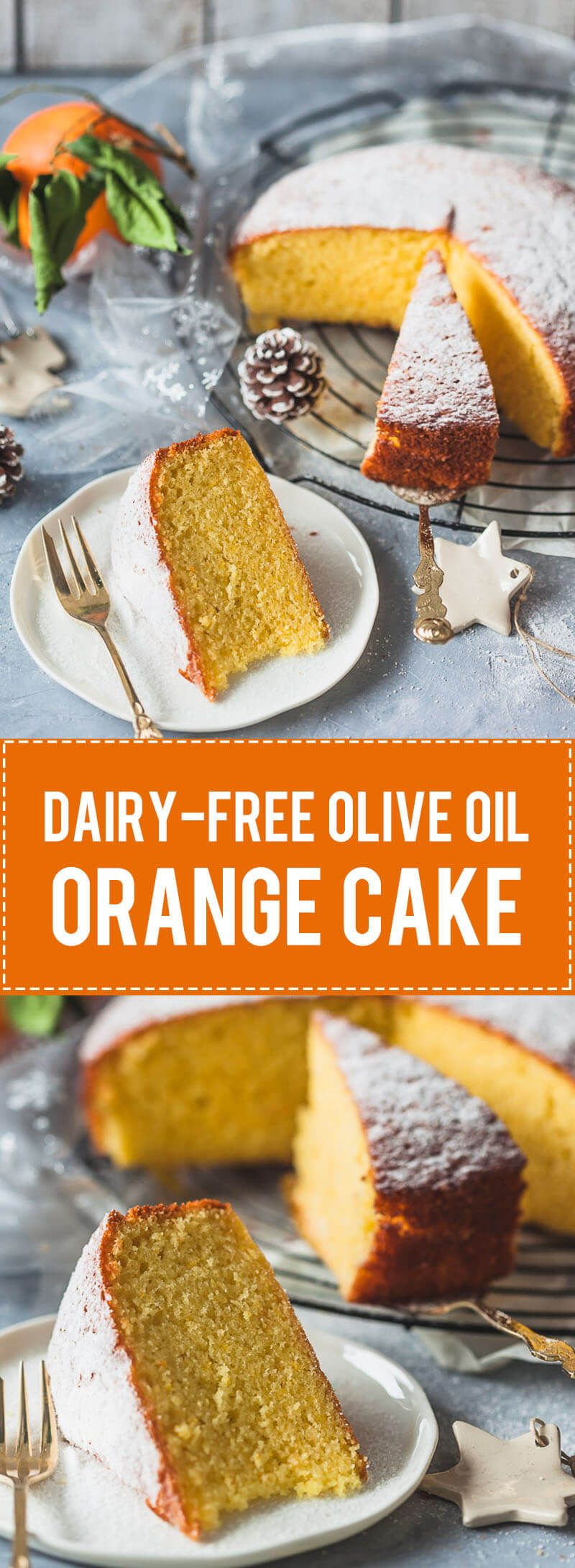 A simple and delicious dairy-free Olive Oil Orange Cake is light and fluffy with a strong orange flavor. #oliveoils