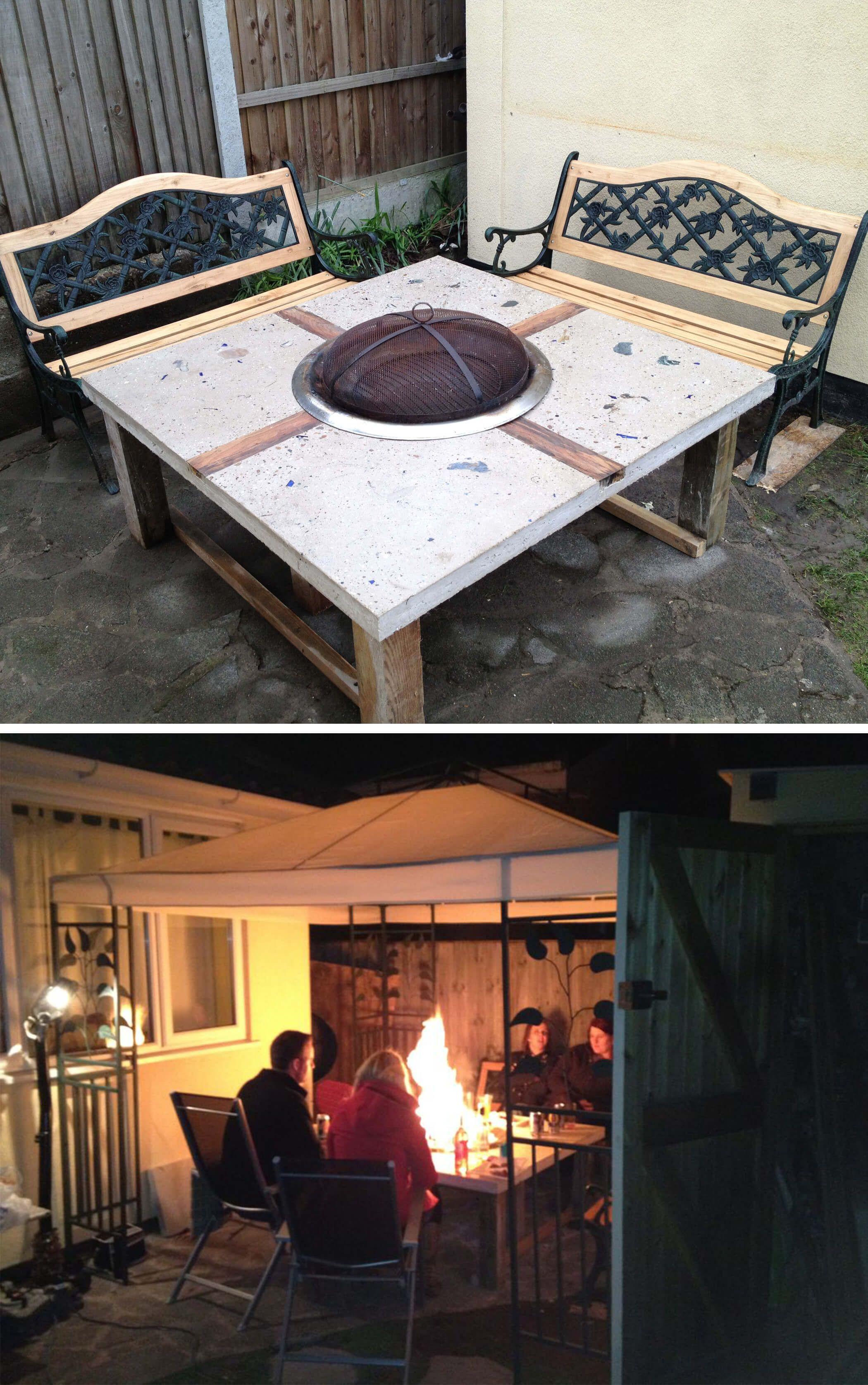 Küchendesign im freien pin von deko auf diyprojekte  pinterest  feuer feuerschale und