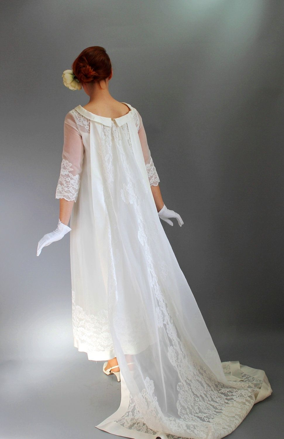 40 Off Sale Vintage 1960s Long Lace Wedding Dress