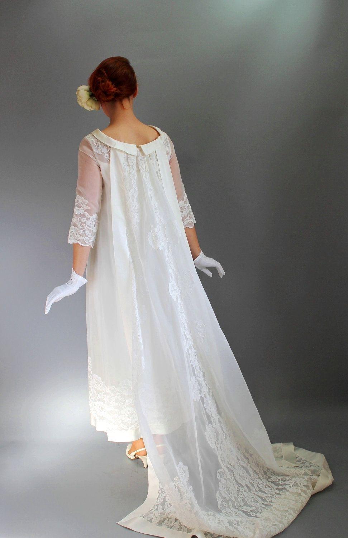 Reserved For Yl Vintage 1960s Long Lace Wedding Dress Train Mad Men Fashion Wedding Gown Spring Wedding Romantic Modern Size Medium 1960s Wedding Dresses Wedding Gowns Vintage Wedding Dress Men