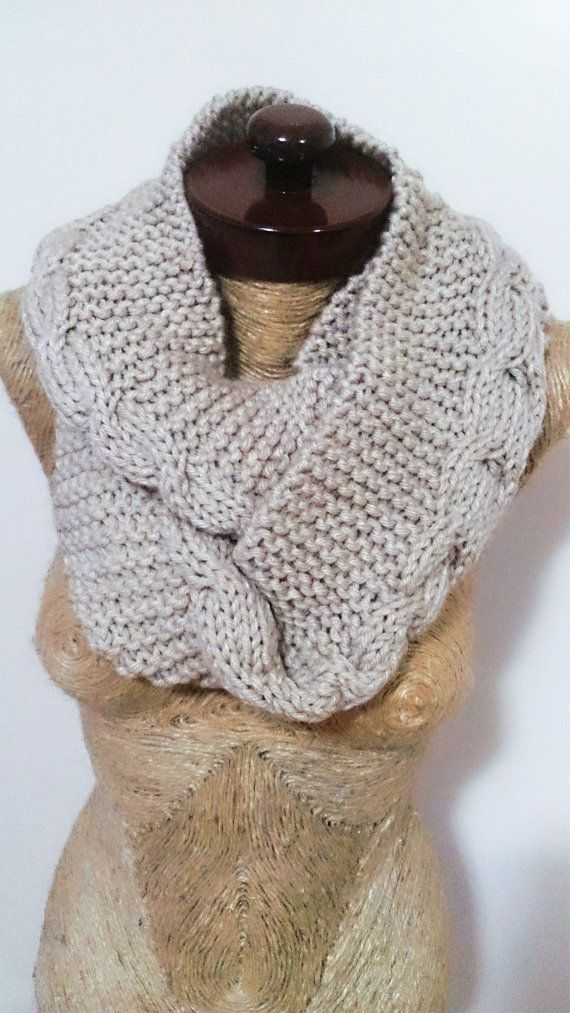 Mens circle scarf handmade gifts knit men infinity by AtlasScarf