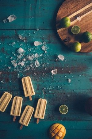 Mango, coconut and lime popsicles.  The perfect flavour combination in an ice cream.  Click through to see the recipe...