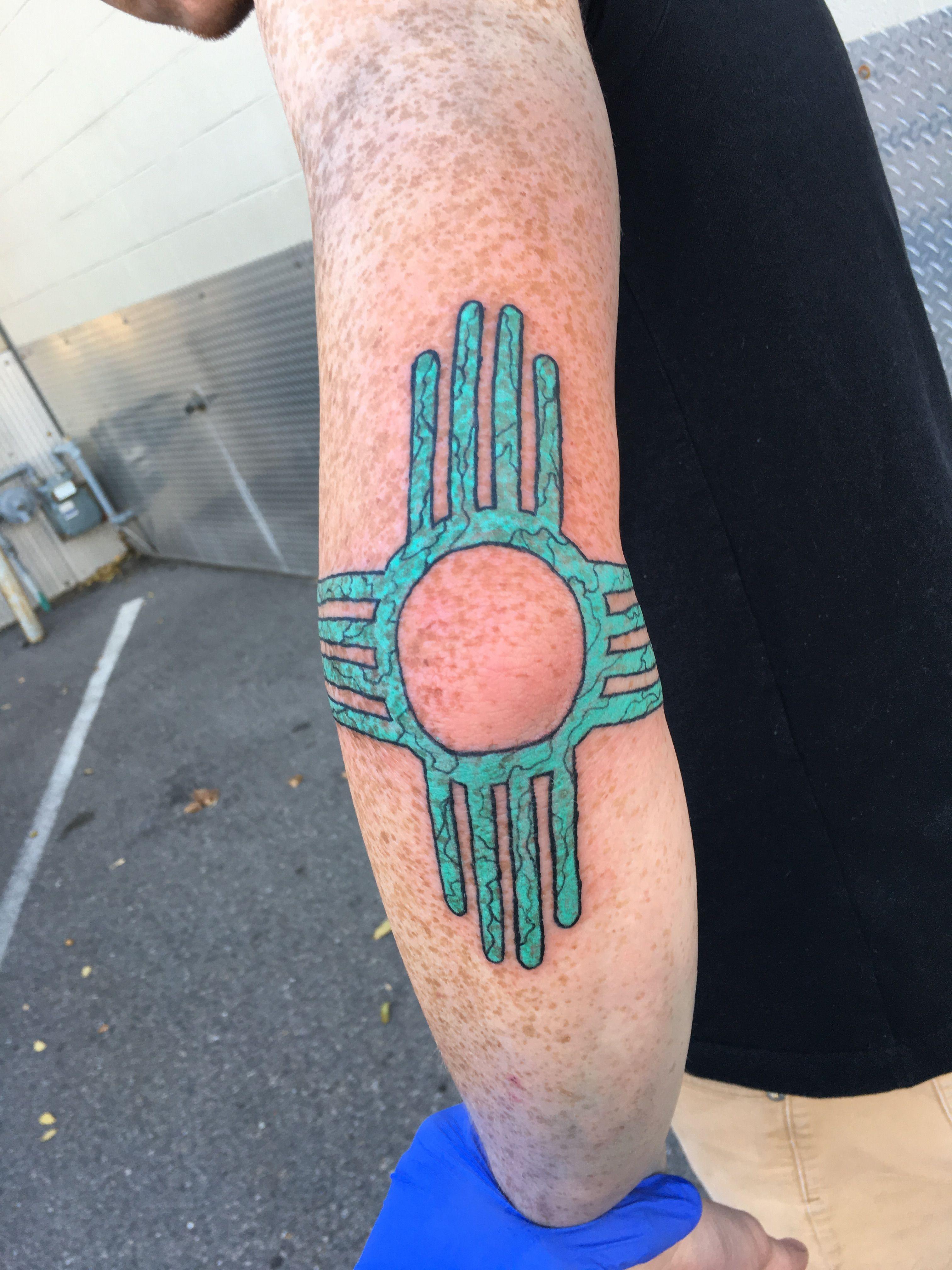 Zia Sun Tattoo Elbow Tattoos Pinterest Tattoos Sun Tattoos