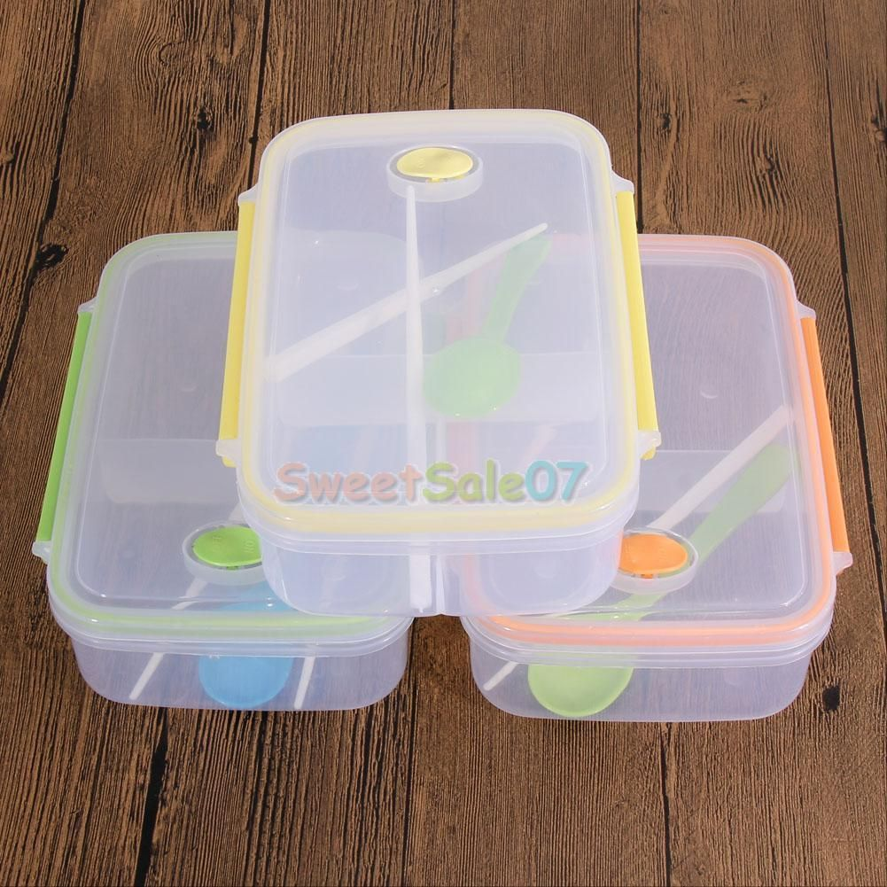 Lunch Box Food Container Picnic Storage Portable Bento Microwave Bowl Spoon  NEW | EBay