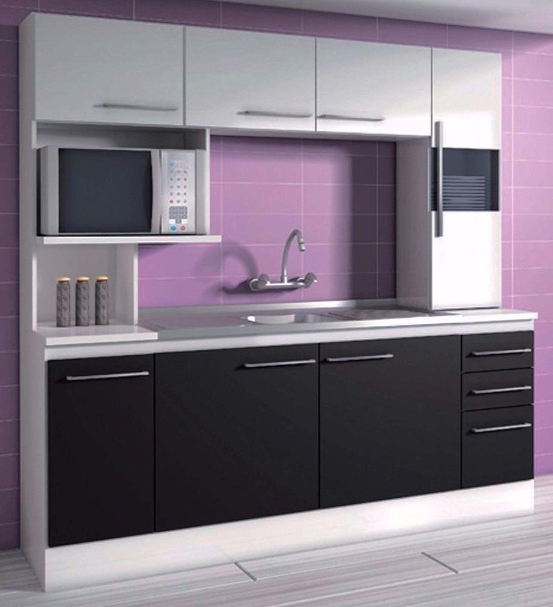 Mueble alacena cocina compacta c mesada incluida los for Muebles online uruguay