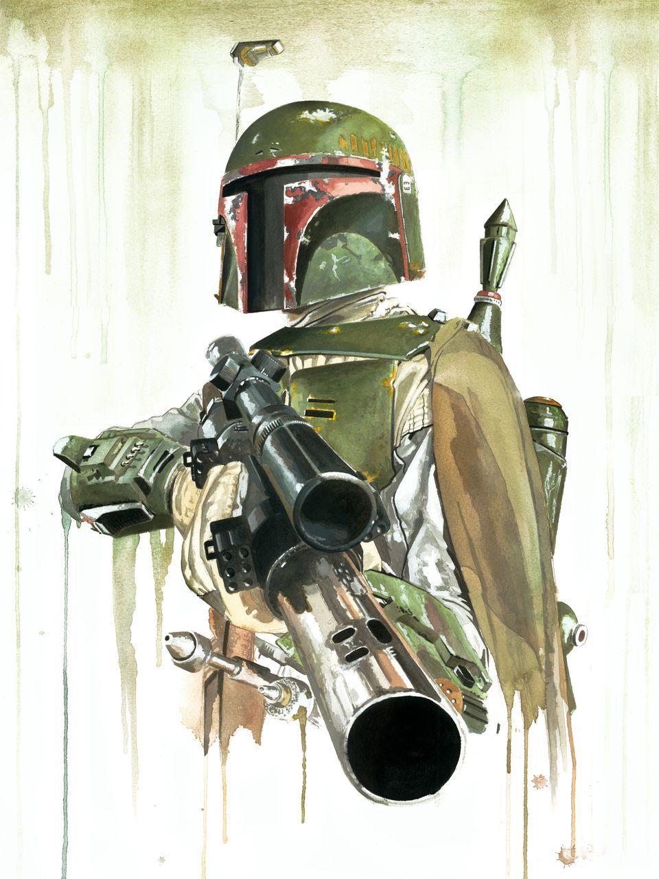 Boba Fett watercolor   star wars/estar guars   Pinterest   Star ...