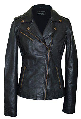 Faneema Women S Riva Moto Leather Jacket Black Small Fashion