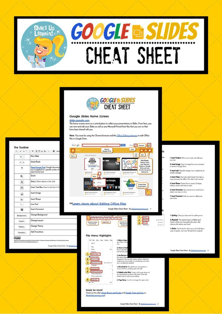 google slides cheat sheet for teachers and students this quick