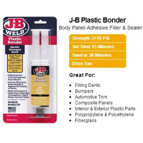 J B Plastic Bonder J B Weld Plastic Bonder Is A Two Part Urethane