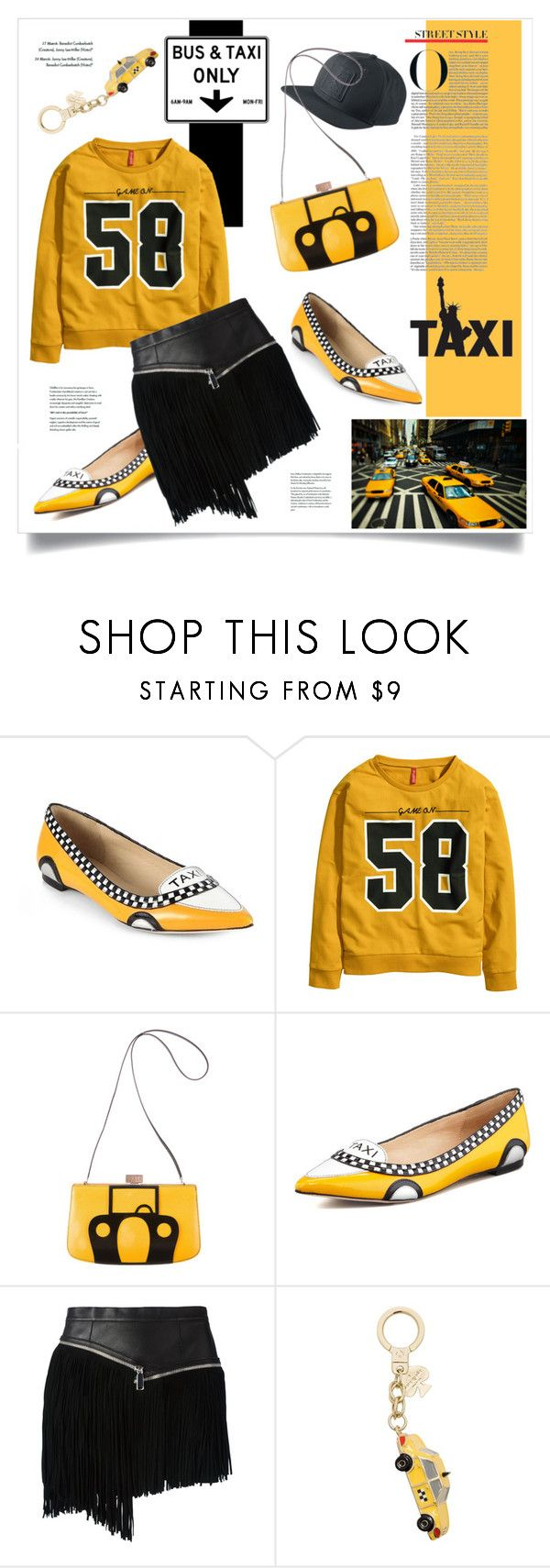 """""""Taxi"""" by marina-volaric ❤ liked on Polyvore featuring TAXI, Kate Spade, H&M and Dsquared2"""
