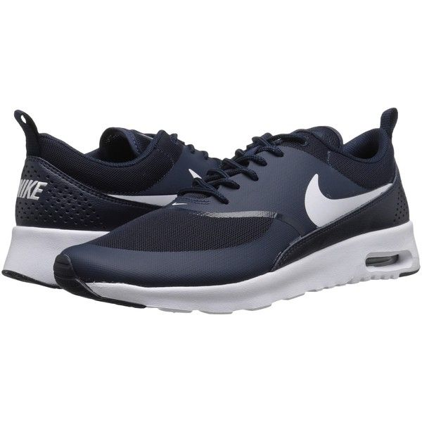 cheap for discount d56c1 a1cff Nike Air Max Thea (Obsidian White) Women s Shoes ( 90) ❤ liked on Polyvore  featuring shoes, athletic shoes, laced up shoes, laced shoes, lace up shoes,  ...